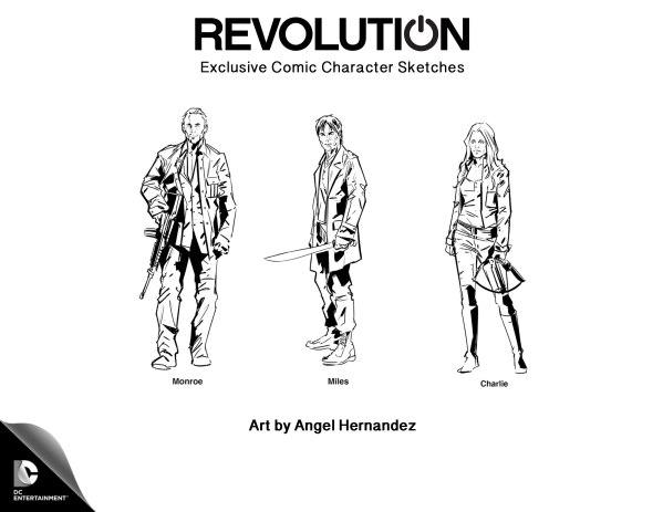 Revolution: alcuni dei protagonisti nella versione disegnata da Angel Hernandez