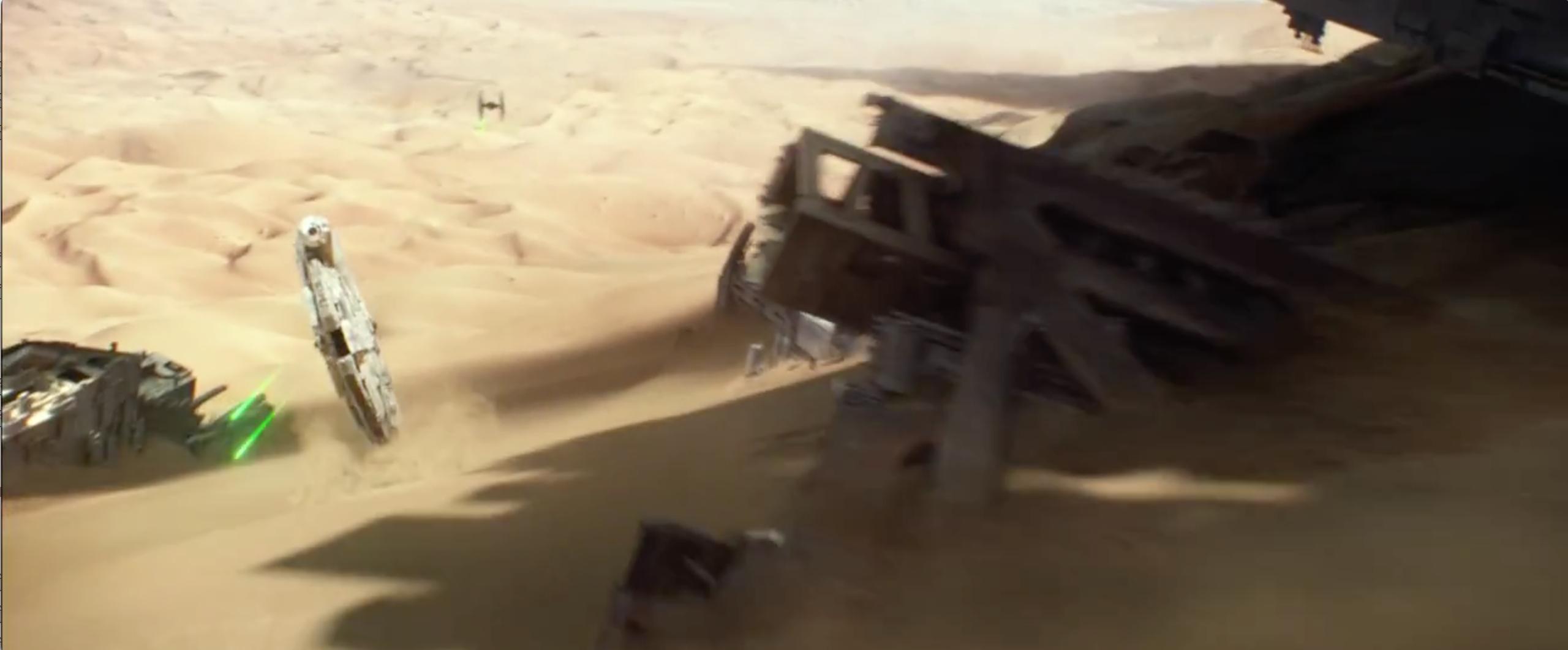 Star Wars: Episodio VII - Il risveglio della Forza: il Millennium Falcon in azione nel secondo teaser