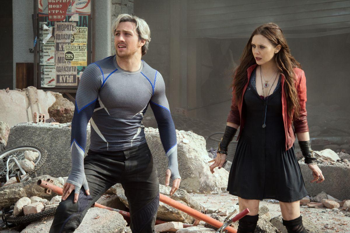 Avengers: Age of Ultron - Aaron Taylor-Johnson e Elizabeth Olsen firmano una scena distruttiva