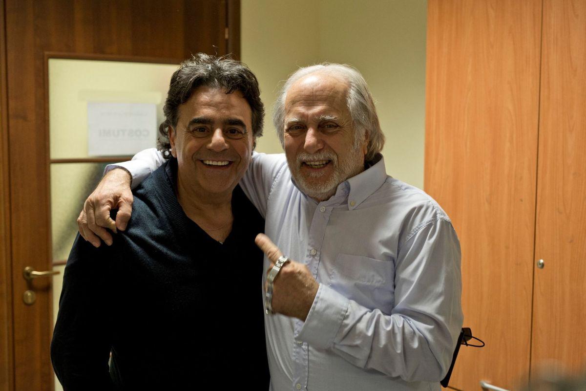 Il ragazzo della Giudecca: Luigi Diberti con Carmelo Zappulla in una foto promozionale