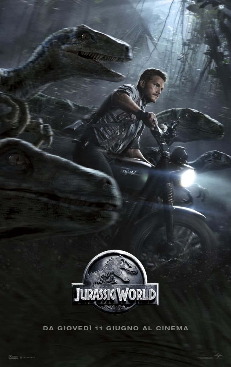 Jurassic World: Chris Pratt nel poster italiano dedicato a Owen e ai Raptor