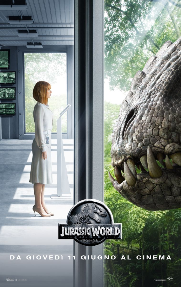 Jurassic World: Bryce Dallas Howard nel character poster italiano dedicato a Claire e al D-Rex