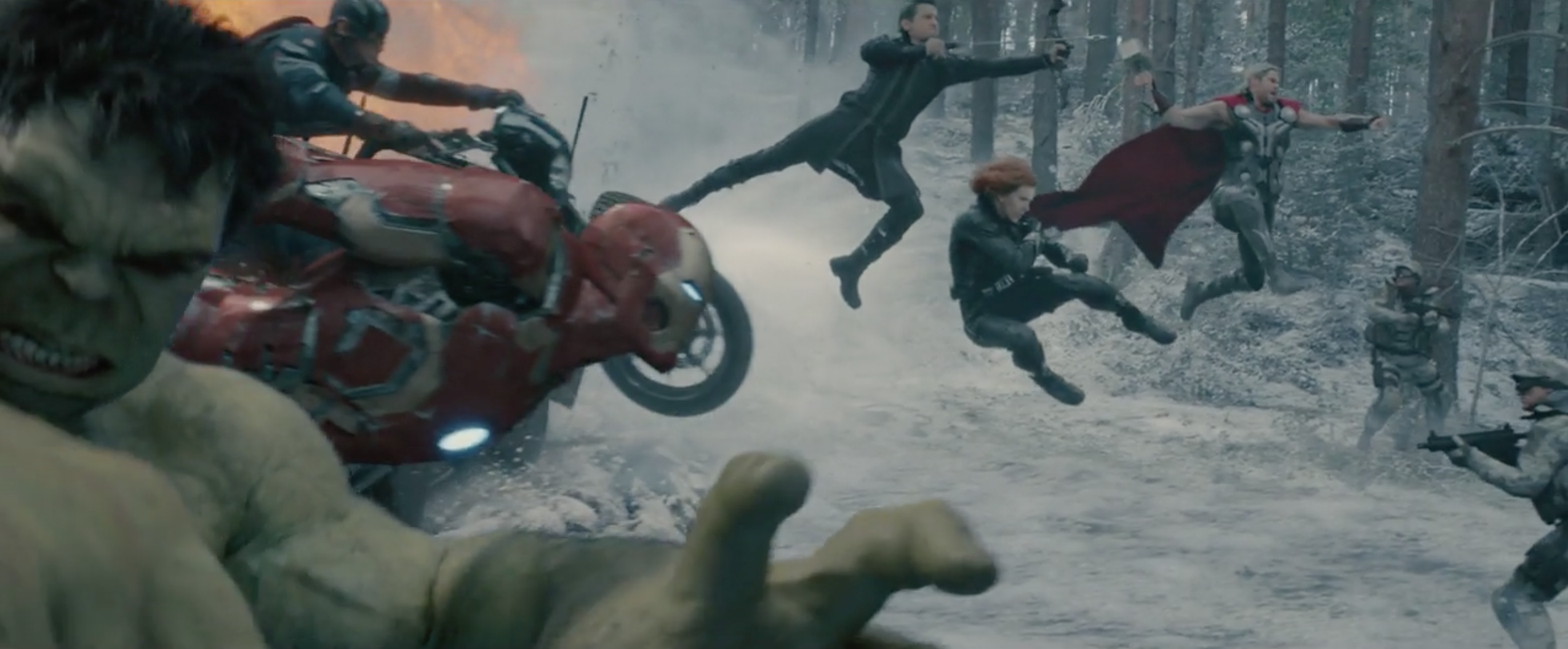 Avengers: Age of Ultron - Un momento di una spettacolare sequenza d'azione
