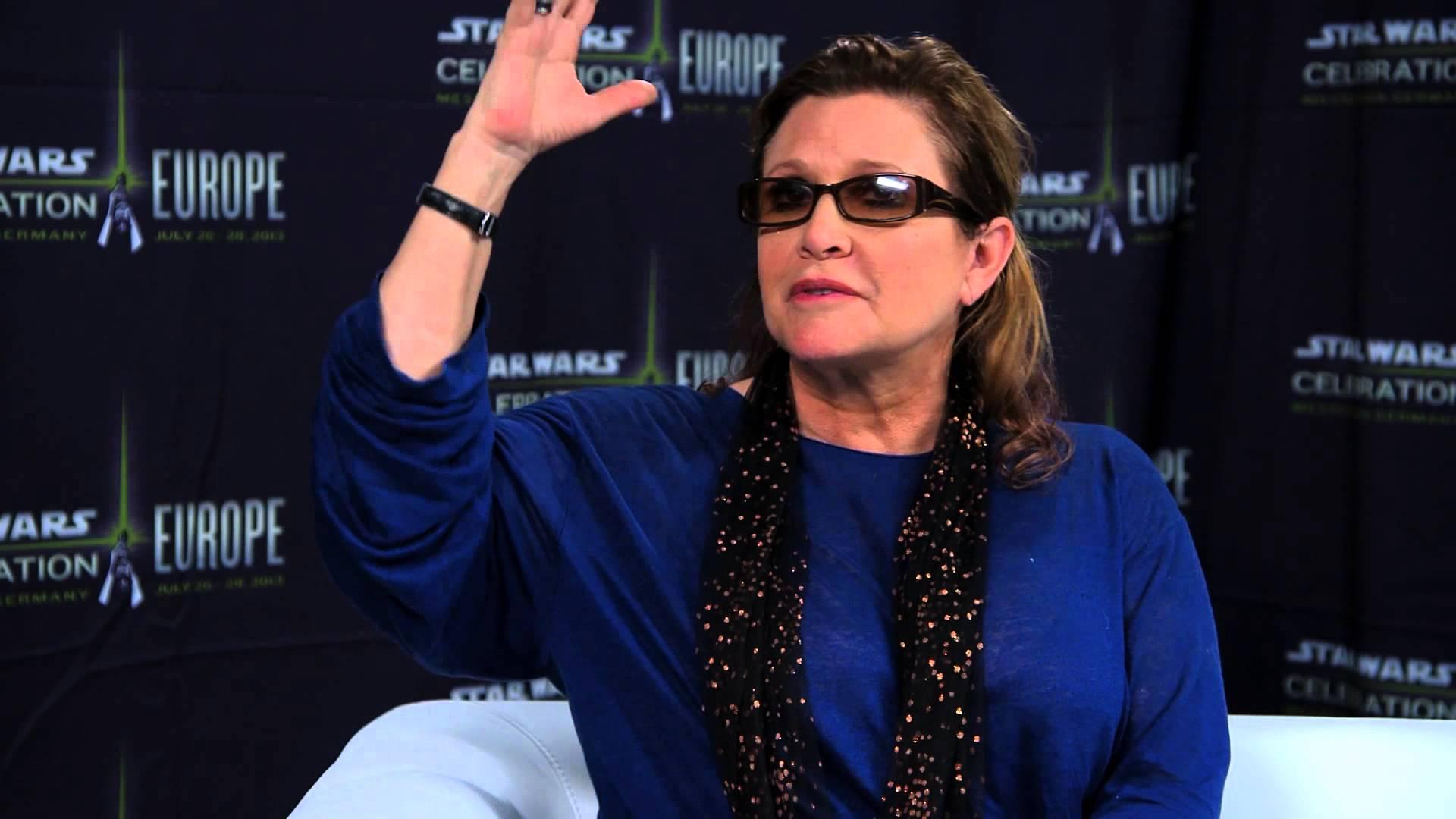 Carrie Fisher alla Star Wars Celebration
