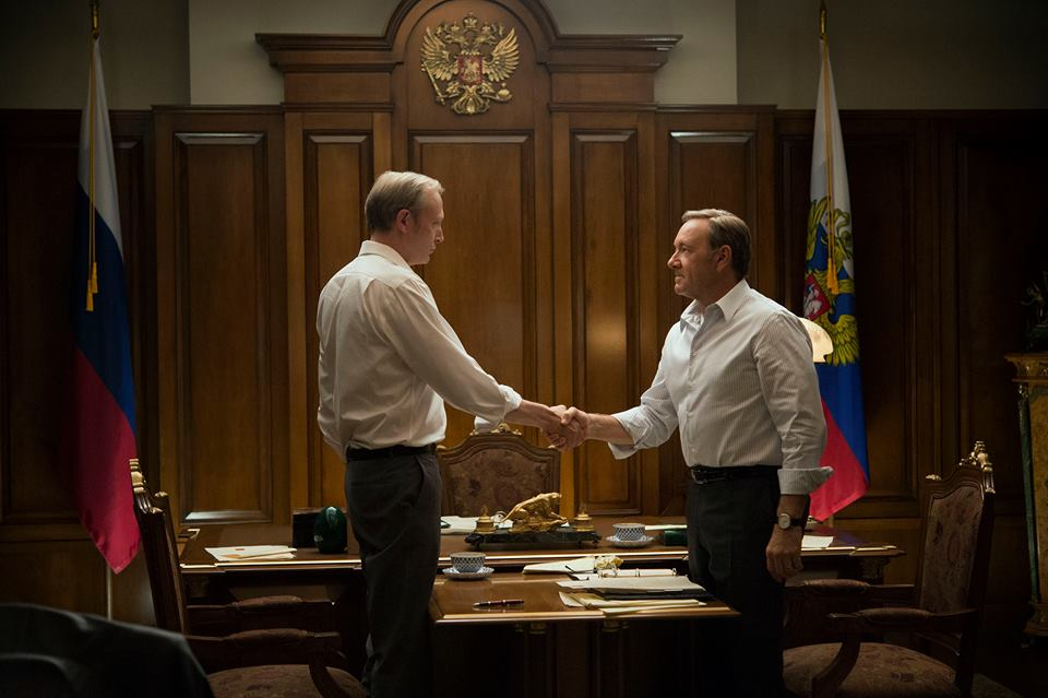 House of Cards: Kevin Spacey in una scena dell'episodio Capitolo 27