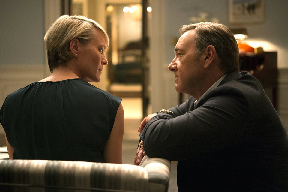 House of Cards: i protagonisti Robin Wright e Kevin Spacey