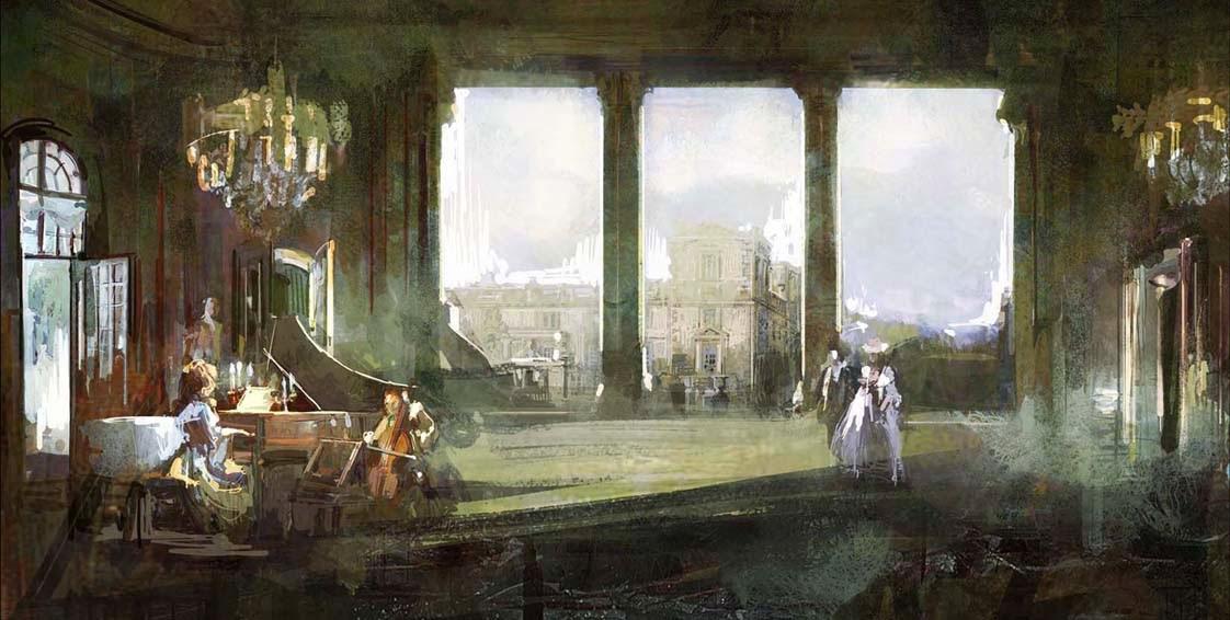 Nei secoli dei secoli - bozza scenografica di Luigi Marchione