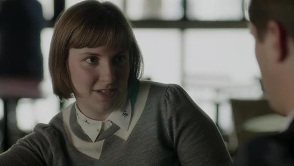 Girls: Lena Dunham in una scena di Daddy Issues