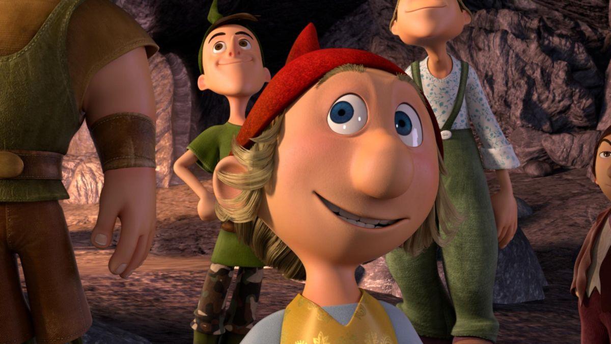 I 7 Nani: l'adorabile Bobo in una scena del film d'animazione