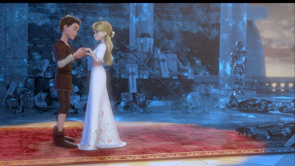 I 7 Nani: Jack con la Principessa Rose in una scena del film d'animazione