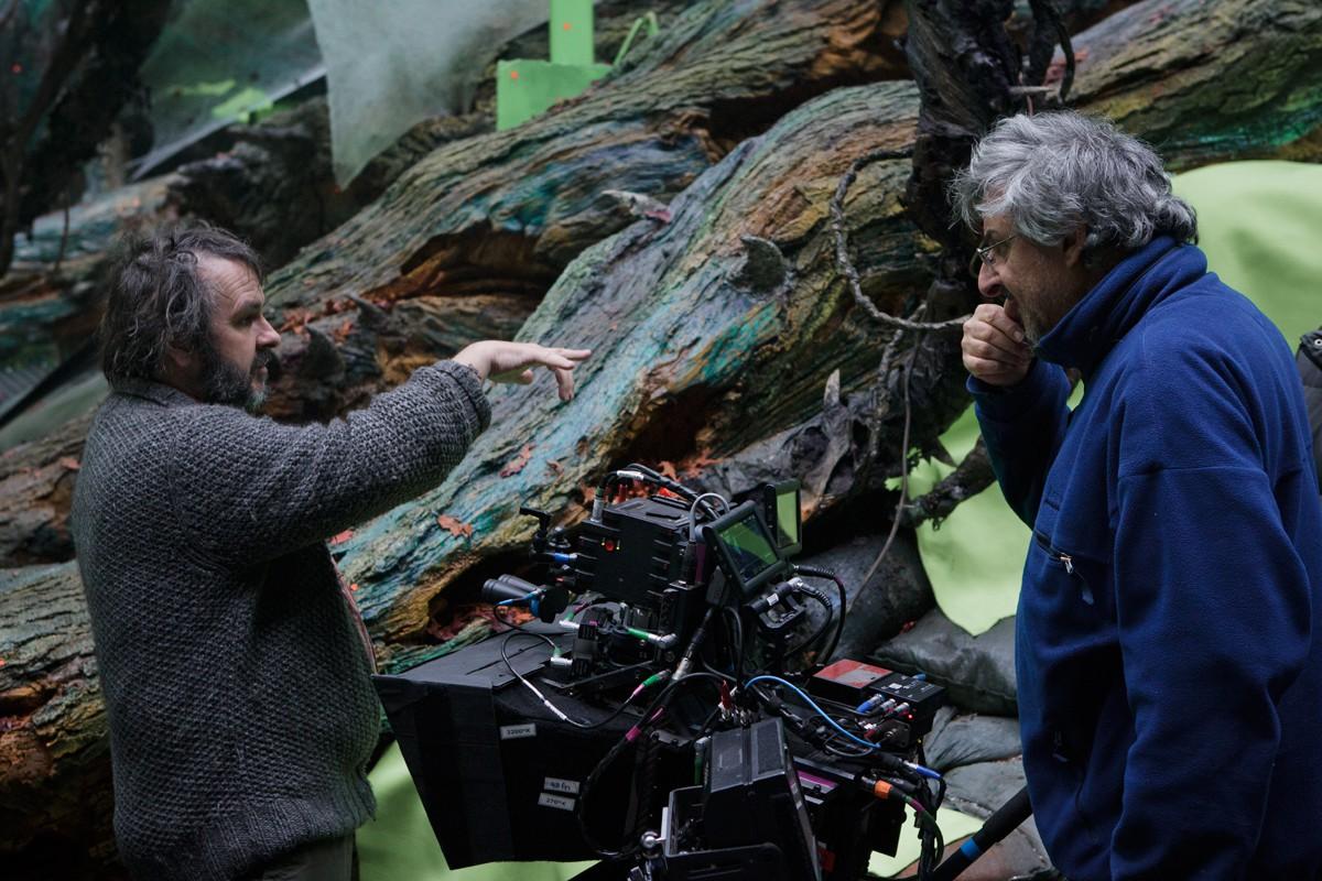 Lo Hobbit: un viaggio inaspettato - Peter Jackson col direttore della fotografia Andrew Lesnie