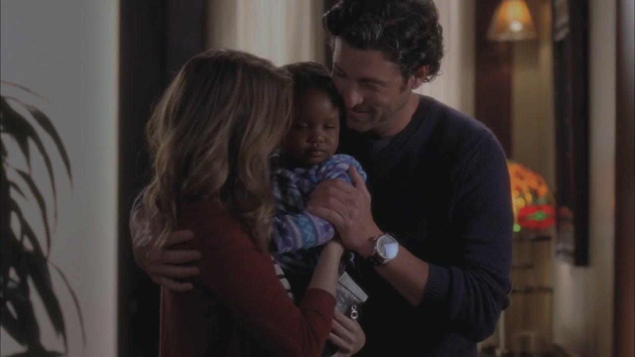 Grey's Anatomy: Derek insieme a Meredith e la loro figlia