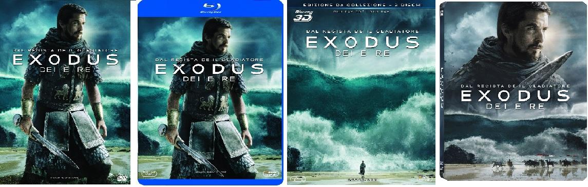 Le cover homevideo di Exodus - Dei e Re