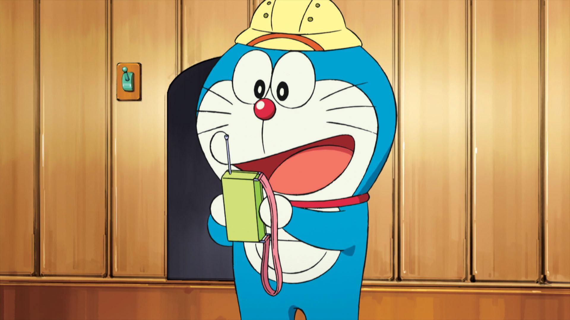 Doraemon Il Film - Le Avventure di Nobita e dei Cinque Esploratori: Doraemon in una scena del film animato