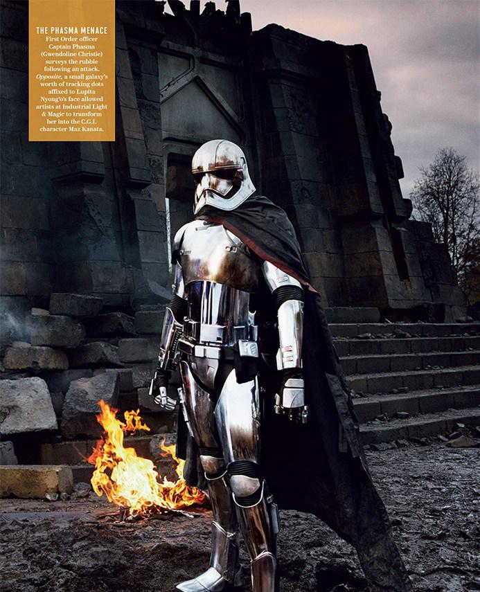 Star Wars: Episodio VII - Il Risveglio della Forza: Gwendoline Christie in un'immagine del magazine Vanity Fair