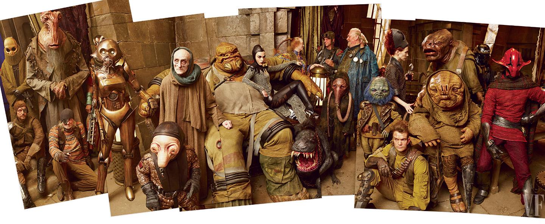 Star Wars: Episodio VII - Il Risveglio della Forza - Alcune delle comparse in costume in uno degli scatti condivisi da Vanity Fair