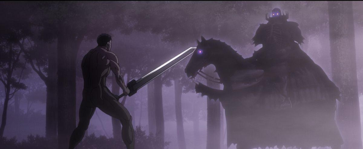 Berserk L'epoca d'oro - Capitolo III: L'Avvento, una scena di combattimento tratta dal film animato