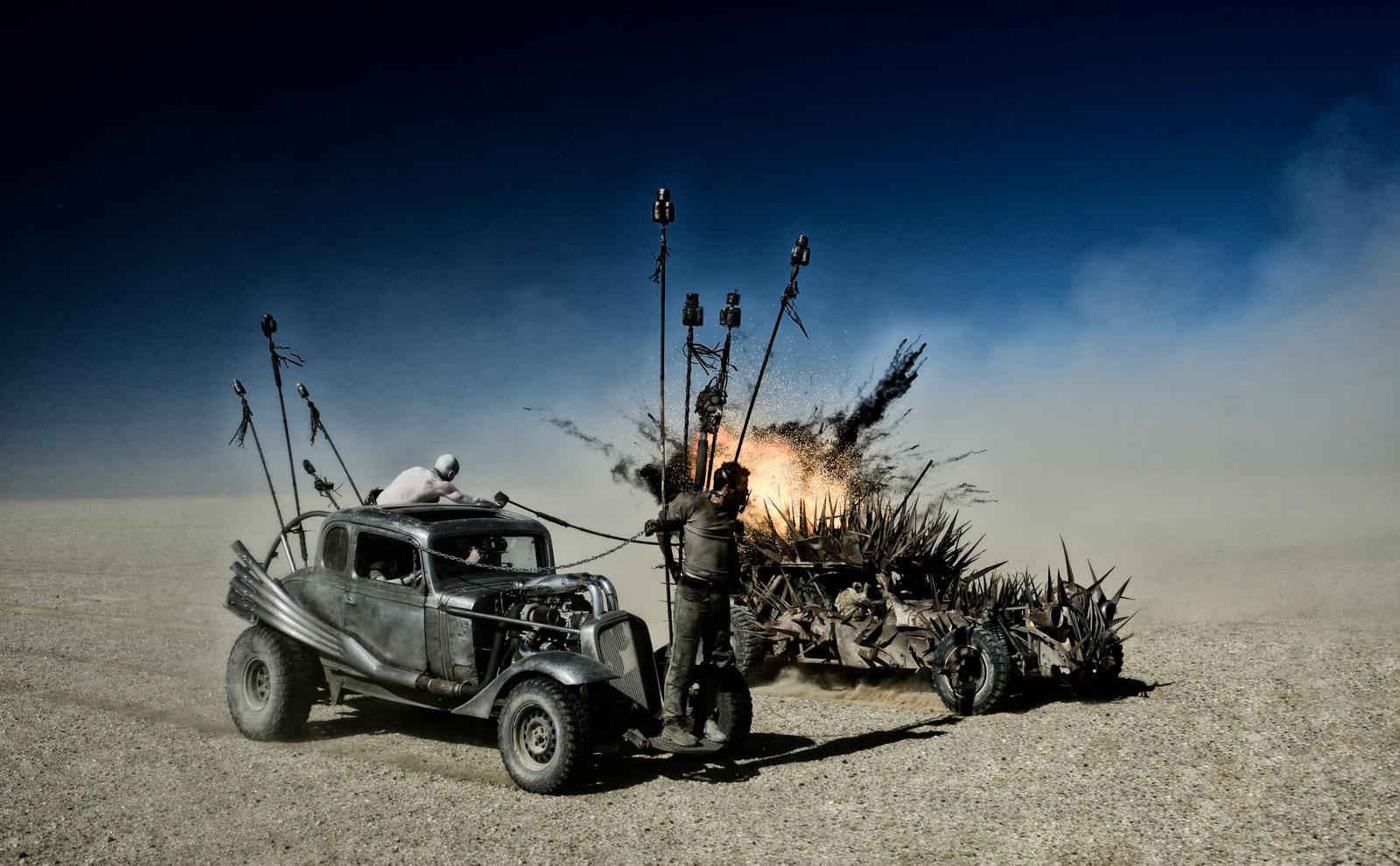 Mad Max: Fury Road, una scena tratta dal film d'avventura fantascientifico