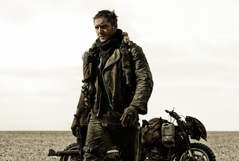 Mad Max: Fury Road, Tom Hardy in un momento del film action fantascientifico