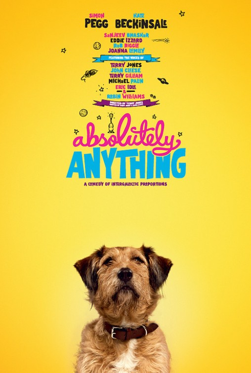 Absolutely Anything: il character poster di Dennis the Dog, doppiato da Robin Williams
