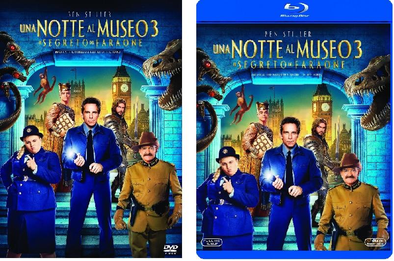Le cover homevideo di Notte al Museo 3