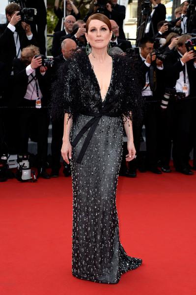 Cannes 2015: l'attrice Julianne Moore alla cerimonia di apertura del festival