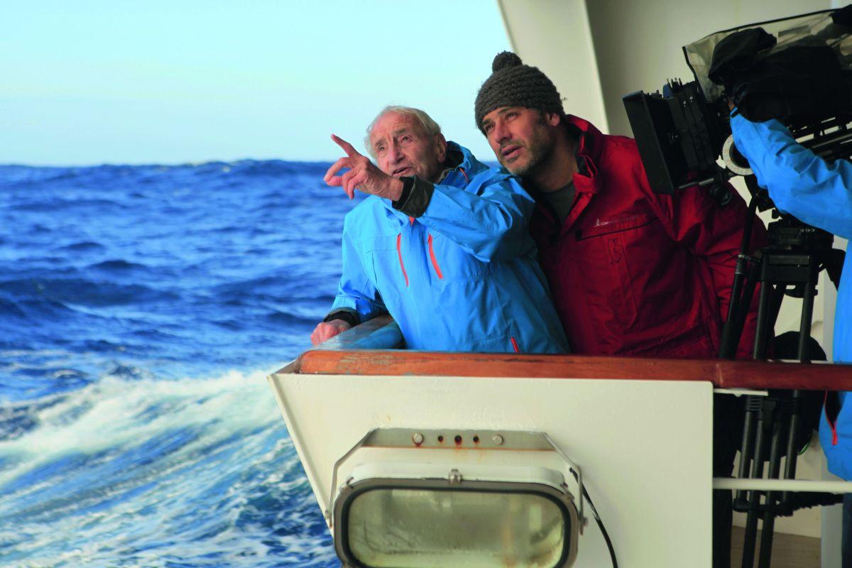 Ice and the Sky: il regista Luc Jacquet con Claude Lorius sul set del documentario
