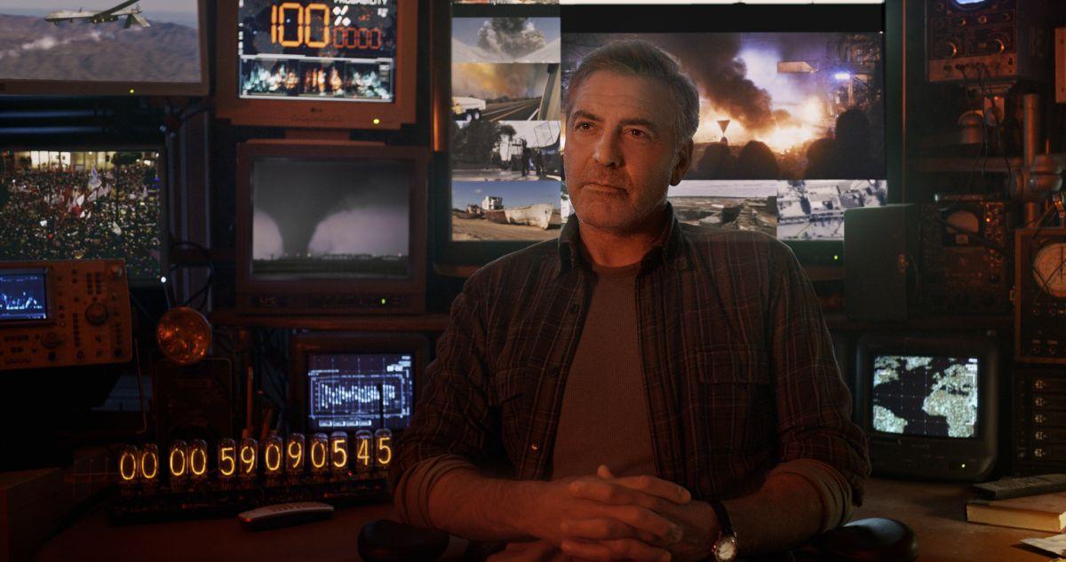 Tomorrowland - Il mondo di domani: George Clooney nei panni dell'inventore Frank Walker in una scena del film