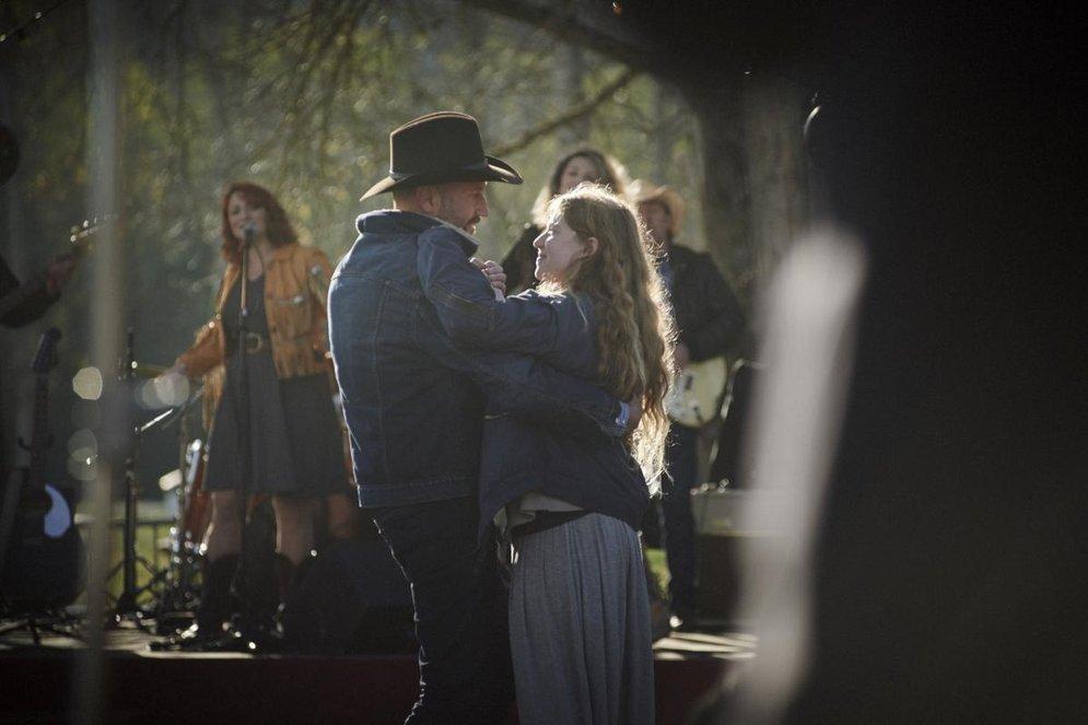 Les Cowboys: una scena del film di Thomas Bidegain