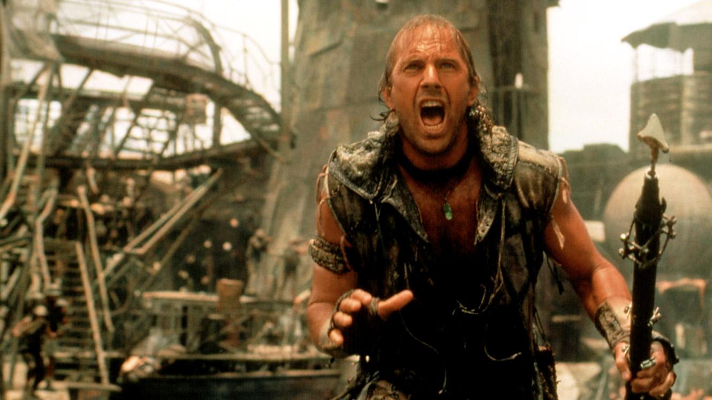 Kevin Costen in una scena di Waterworld