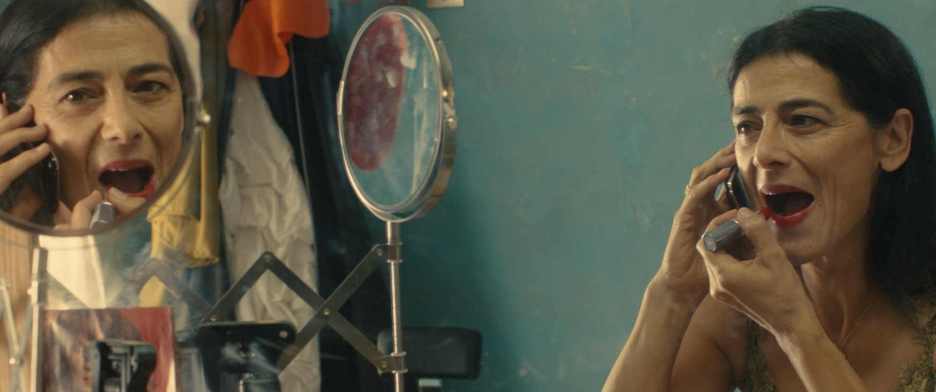 Dégradé: Hiam Abbass con Maisa Abdelhadi in una scena del film