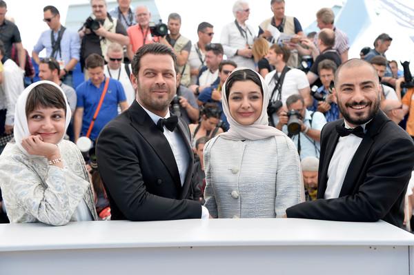 Cannes 2015 - Ida Panahandeh, Pejman Bazeghi, Sareh Bayat e Navid Mohammadzadeh al photocall di Nahid