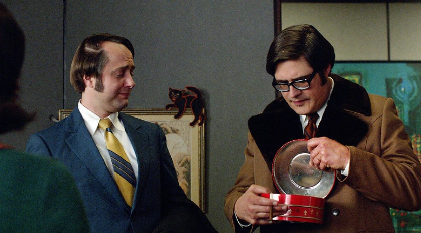 Mad Men: Vincent Kartheiser e Rich Sommer nell'episodio Person to Person