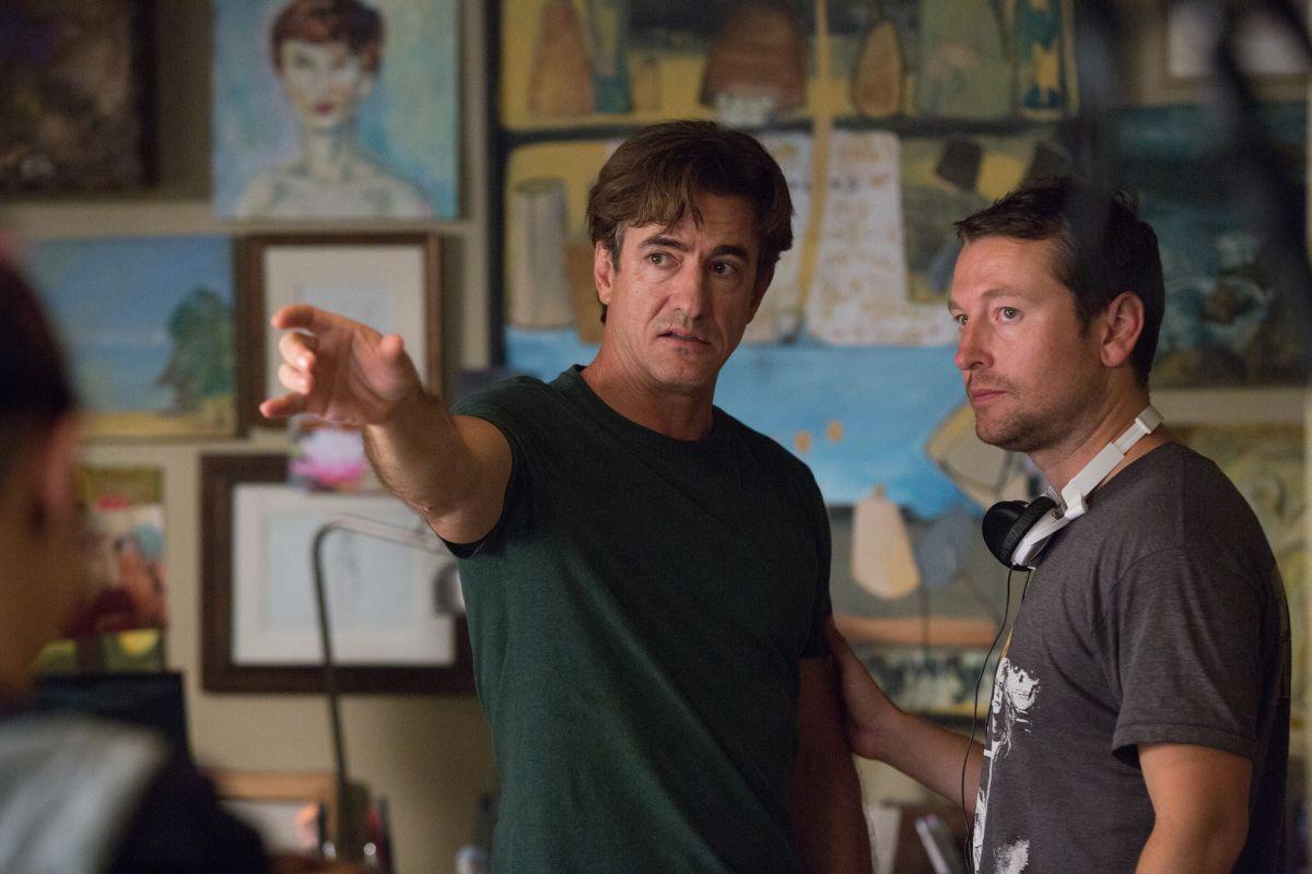 Insidious 3 - L'Inizio: Dermot Mulroney sul set con il regista e interprete del film Leigh Whannell