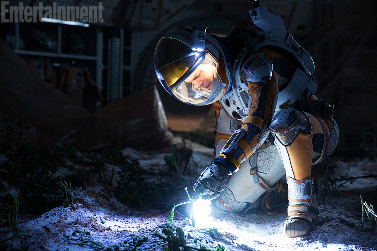 Sopravvissuto - The Martian: Matt Damon nin una scena del film