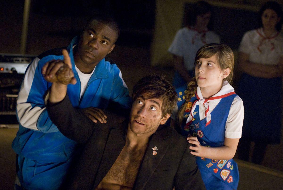 Accidental Love: Jake Gyllenhaal con Tracy Morgan e Olivia Crocicchia in una scena del film