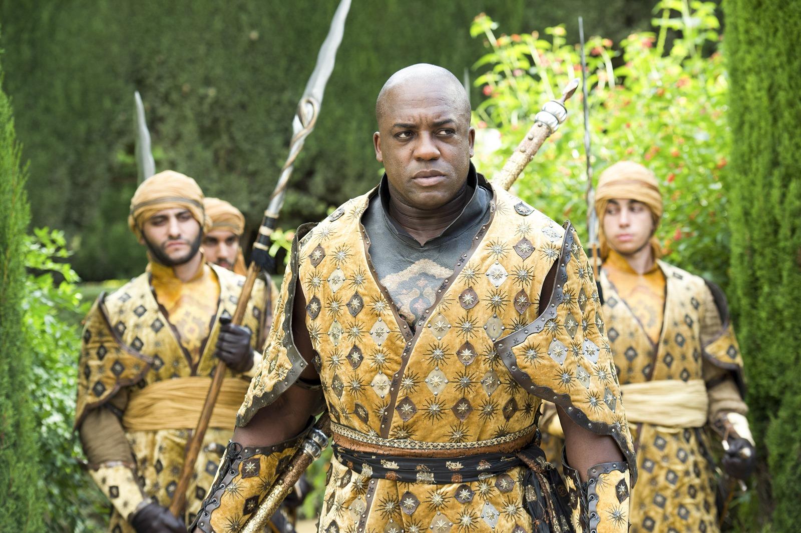 Il trono di spade: Deobia Oparei in una scena dell'episodio intitolato Le Serpie delle Sabbie