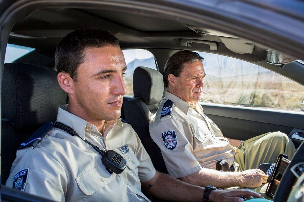 Wolf Creek 2 - La preda sei tu: Shane Connor e Ben Gerrard in una scena del film horror
