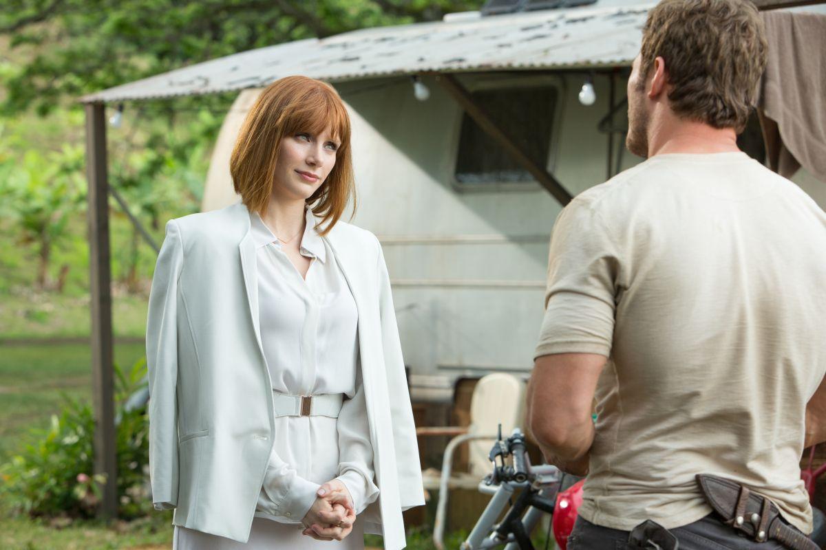 Jurassic World: Chris Pratt discute con Bryce Dallas Howards