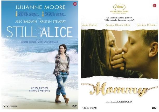 Le cover DVD di Still Alice e Mommy