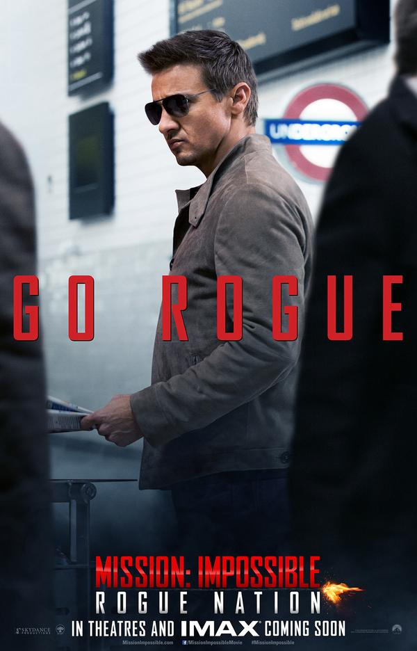 Mission: Impossible - Rogue Nation: Jeremy Renner nel character poster dedicato a William Brandt