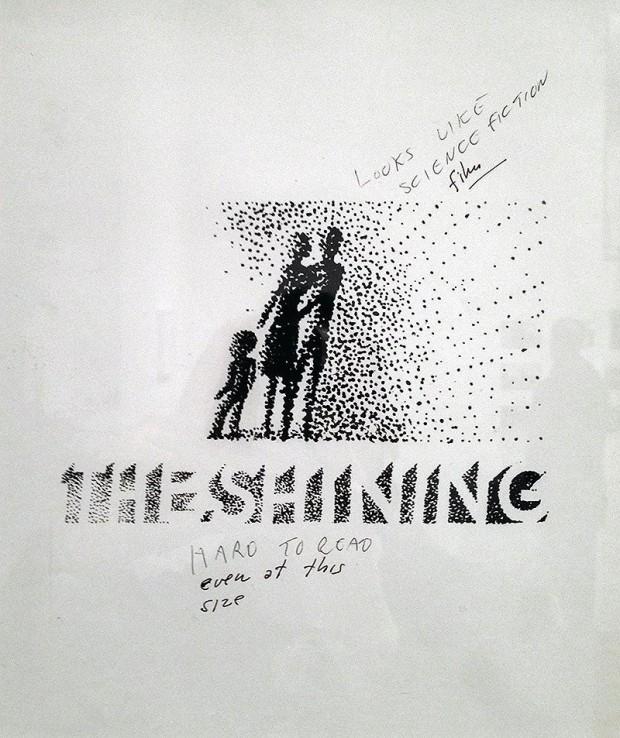 Shining - bozza del manifesto firmata da S. Bass con note di Kubrick