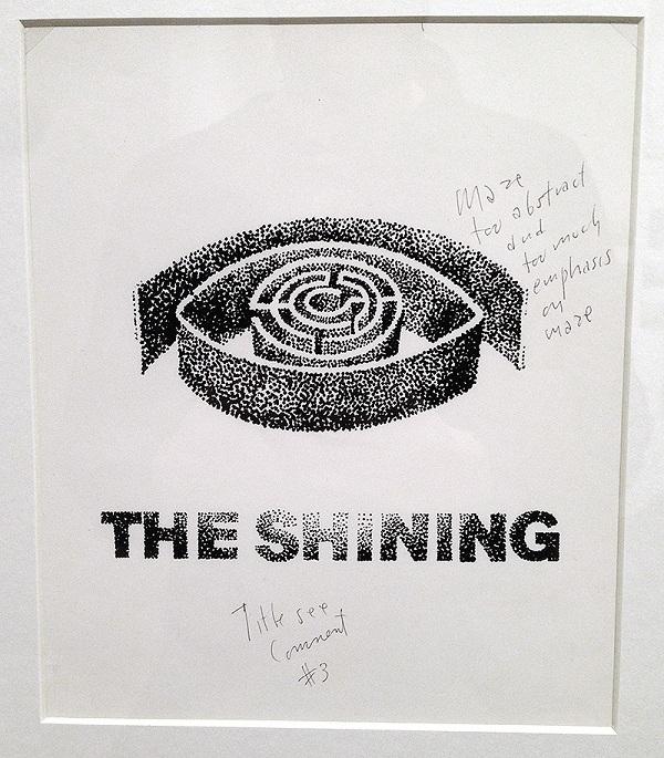 Shining - bozza del poster firmata da S. Bass con note del regista
