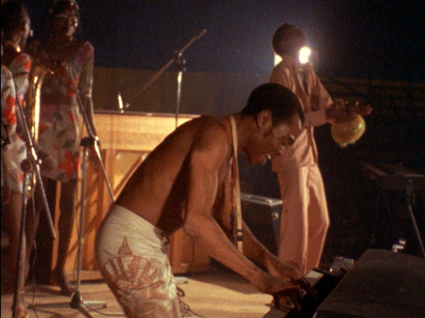 Finding Fela: Fela Kuti in un'immagine del documentario diretto da Alex Gibney