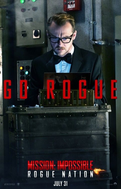 Mission: Impossible - Rogue Nation: il character poster di Simon Pegg