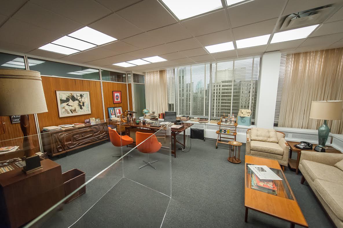 Mad Men: la mostra newyorlese, ecco l'ufficio di Don DRaper in tutto il suo fulgore