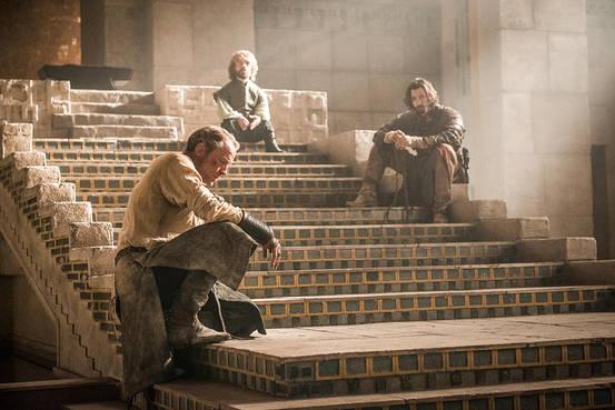 Il trono di spade: Peter Dinklage, Iain Glen, Michiel Huisman in Mother's Mercy