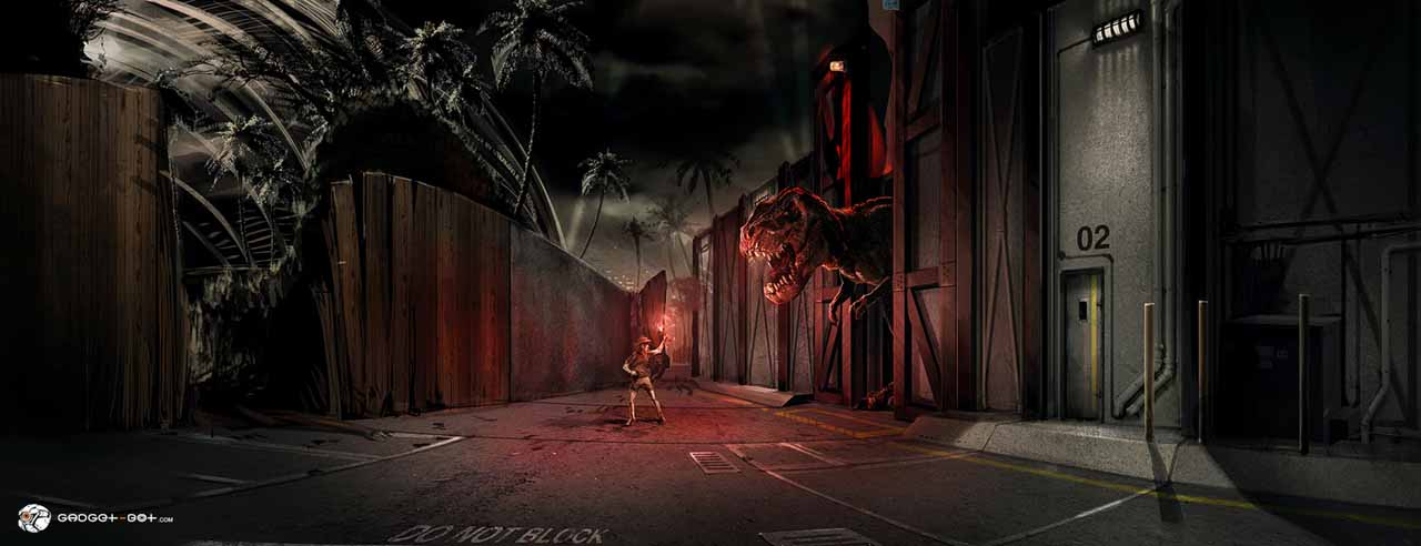 Jurassic World: un concept art di Dean Sheriff