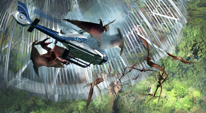 Jurassic World: un concept art di Dean Sheriff