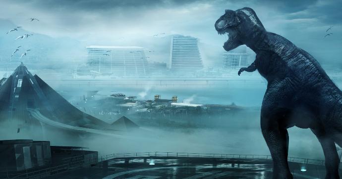 Jurassic World: un concept art del finale realizzato da Dean Sheriff